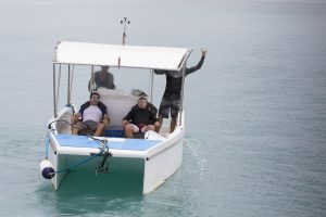 just chillin' in the powercat by surf banyak