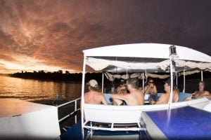 seriti top deck sunset and the passengers are relaxing by surf banyak