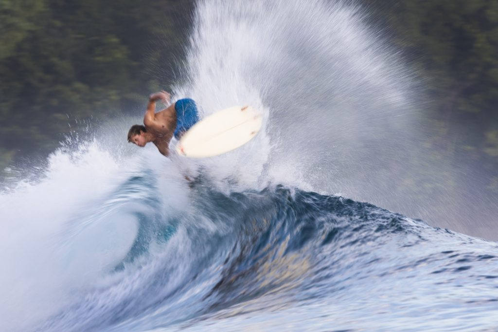 turtles air, surf banyak